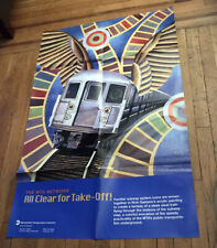 MTA NYCTA SUBWAY ART POSTER ALL CLEAR FOR TAKE OFF