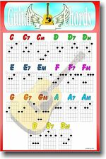 New Guitar Educational Music Poster - Guitar Chords