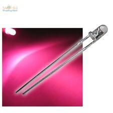 50 Leuchtdioden pink rosa LEDs superhelle pinke LED & Widerstände zB 12V