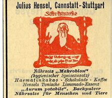 Julius Hensel Cannstatt-Suttgart Nährsalz Trademark 1912