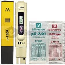PH600 + TDS-3 + pH 7 + 1382 ppm COMBO - Milwaukee HM Digital Meter/Solution