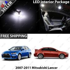 Mitsubishi Lancer Sedan 4 Door White LED Interior Light Bulb Package Set
