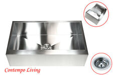 "36"" Stainless Steel Farm Apron Flat FRONT Kitchen Sink"