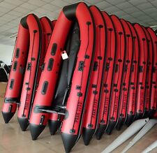 10.8 ft Inflatable Boat  Raft Fishing Dinghy Tender Boat Red/Black