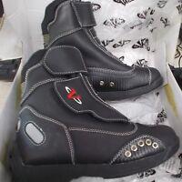 NOS Vega Matix Ladies Moto Street Boots Black Size 5 2850-105