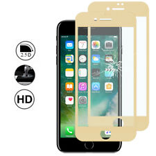 2 Protection Film Screen Tempered Glass Curved Edge YELLOW Apple iPhone 7 Plus