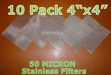 "(10 Pack) 4""x4""- 50 Micron Rosin Tech Diy Tea Bag Screens 10 Ton"