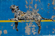banksy leopard graffiti wall urban street art PRINT POSTER a1 size for frame
