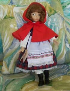 """14""""  DIANNA EFFNER **  LITTLE RED  RIDING HOOD PORCELAIN DOLL by KNOWLES"""