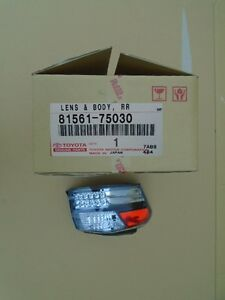 2010-2012 HS250h GENUINE LEXUS REAR LAMP LENS & HOUSING LEFT(DRIVER) 81561-75030