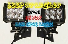 07-16 JEEP WRANGLER  LED SPOT LIGHTS & A-Pillar Brackets - Relay Harness & Switc