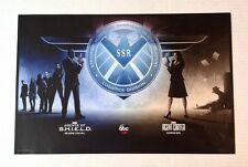 "RARE Marvel AGENTS OF S.H.I.E.L.D. / AGENT CARTER Promo Poster ABC 20"" x 13"""