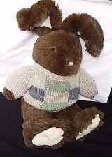 "Dan Dee Bunny/Rabbit Plush w/sweater Collector's Choice Green, Blue & Beige 21"""