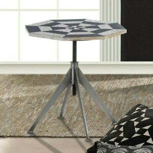 Side Table - Adjustable-Height Checkerboard