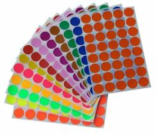 "Round Stickers 3/4"" Inch Colored Coding Circular Labels 19mm Dots 520 Pack"