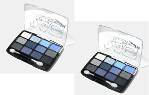 LA COLORS SUPERNATURAL Eyeshadow Palette 12 Color Set of 2 Smooth & Silky