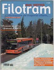 FILOTRAM Bus & Metro magazine #5 feb 2003 english summary Napoli Tunisi Milano