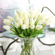 10pcs Artifical False Touch PU Tulips Flower Bouquet Room Home Decor For Wedding