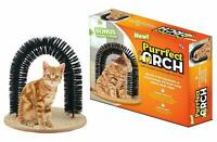 CAT SCRATCHING POST Pet Self Grooming Play Toy Cats Arch Scratcher Hair Brush