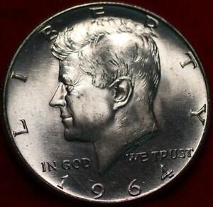 Uncirculated 1964 Philadelphia Mint Silver Kennedy Half