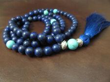 108 Mala Beads, Turquoise & Matte Lapis Lazuli, Yoga, Bohemian Necklace