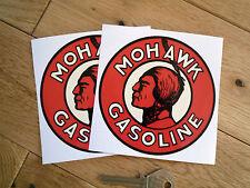"Mohawk Gasolina Con Bomba Pegatinas 4 ""par Race Car Gas Combustible Racing Classic"