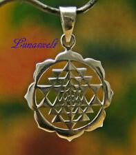 Ketten Anhänger  Sri Yantra 925 Sterlingsilber Amulett inkl. Band