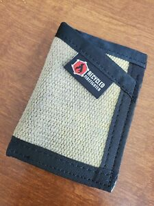 Recycled Firefighter Slim Front Pocket Wallet - Fire Hose Sergeant -Yellow/Black