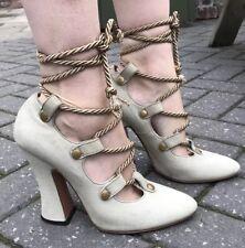 RARE Vivienne Westwood SUEDE VINTAGE BAROCCO Corda Scarpe Tacchi Alti 39 nella casella