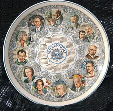 Wedgwood Porcelana Fina placa de calendario 2000 arte y música Aprox 10ins de ancho