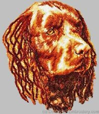 Embroidered Ladies Short-Sleeved T-Shirt - American Water Spaniel Dle1468