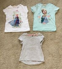 3 H&M T Shirts Size 2 - 4 Years.  Two Frozen And One Sparkly Sequins