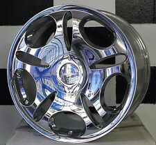 "19""x 9.5+38 BLANK CHROME LOWENHART LD1 ALLOY WHEELS suit MANY CARS/SUV"