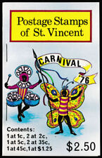 1976 St. Vincent $2.50 unmounted mint stamp booklet Carnival '76