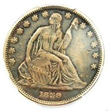 1839 Drapery Seated Liberty Half Dollar 50C - Certified PCGS XF Details (EF)