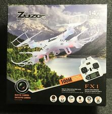 * Zuzo FX1 2.4GHz 4CH 6 Axis Gyro RC Quadcopter Drone with Camera, White