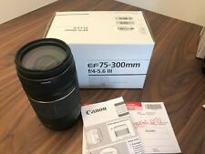 Canon EF 75-300mm F/4-5.6 III Lens (New in Box)