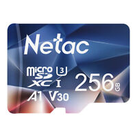Netac 256GB Micro SD Card + Adapter 100MB/S Memory Card TF Card for Phone/Camera