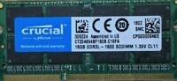 16GB (1X16GB) Laptop CRUCIAL Memory Ram DDR3L 1600mhz PC3-12800S 204PIN soDIMM