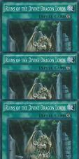 Ruins of the Divine Dragon Lords SR02-EN024 1st  X 3 Mint Super  YUGIOH
