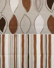 Dekostoff Leinen Taschenstoff Panama braun beige natur Streifen Tabakblatt 0,25m