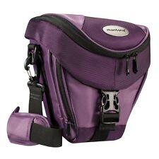 BAXXTAR Mantona Colt SLR Kameratasche lila mit Staubschutz & Tragegurt
