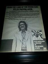 Felix Pappalardi And Creation Rare Original Promo Poster Ad Framed!