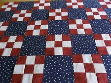 RED WHITE AND BLUE QUILT TOP KIT 42 BLOCKS