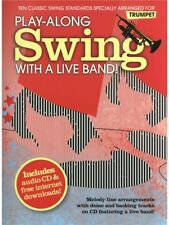 PlayAlong Swing With A Live Band Songs Hits Tunes Themes Trumpet MUSIC BOOK & CD