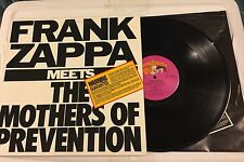 FRANK ZAPPA Meets The Mothers Of Prevention  VinylLP Barking Pumpkin 1985