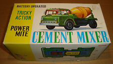 BATTERY OPERATED CEMENT MIXER TRICKY ACTION - MARX TOYS MADE IN HONG KONG