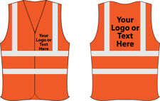 Custom printed Personalised Hi Vis Vest Hi Viz Safety Waistcoat High work wear