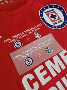 1 Cruz azul Final 2021 vs Santos Match detail 100% Authentic Jersey NOT included