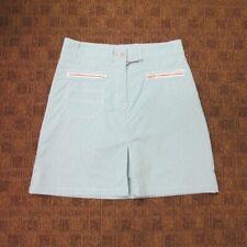 ABACUS Dark Turquoise White Flat Zip Front Pockets Skort Skirt NWT Sz 6 GG9974